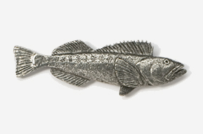 #224 - Lingcod Antiqued Pewter Pin