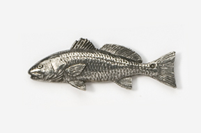 #227 - Redfish / Red Drum Antiqued Pewter Pin