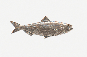 #287 - Herring Antiqued Pewter Pin