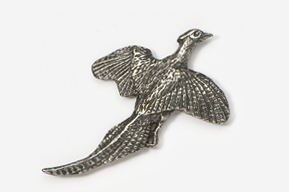 #301 - Flying Pheasant Antiqued Pewter Pin