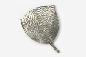 #303 - Turkey Feather Antiqued Pewter Pin