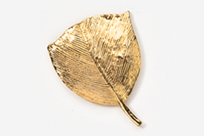 #303G - Turkey Feather 24K Gold Plated Pin