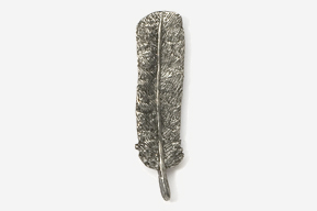 #305 - Tail Feather Antiqued Pewter Pin