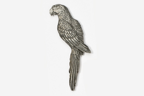 #354 - Parrot / Macaw Antiqued Pewter Pin
