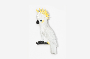 #355P-SC - Sulphur Crested Cockatoo Hand Painted Pin