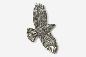 #368 - Flying Hawk Antiqued Pewter Pin