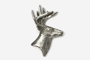 #400 - Buck Head Antiqued Pewter Pin