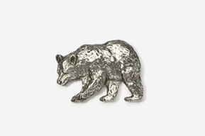 #405 - Black Bear Antiqued Pewter Pin