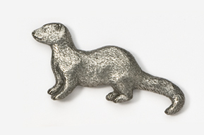 #414A - Mink Antiqued Pewter Pin