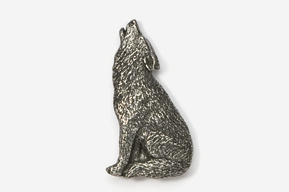 #418 - Howling Wolf Antiqued Pewter Pin