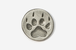 #418F - Wolf Track Antiqued Pewter Pin