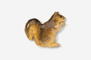 #419P-R - Red Squirrel Hand Painted Pin