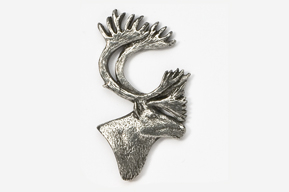 #431 - Caribou Antiqued Pewter Pin