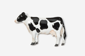 #445P-H - Holstein Cow Hand Painted Pin