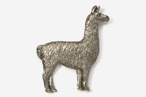 #449A - Llama Antiqued Pewter Pin
