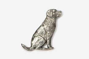 #450 - Sitting Labrador Retriever Antiqued Pewter Pin
