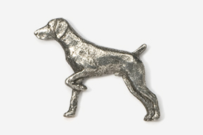 #451 - German Shorthair Antiqued Pewter Pin