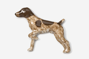 #451P-LW - German Shorthair Hand Painted Pin
