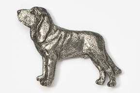 #453C - Bloodhound Antiqued Pewter Pin