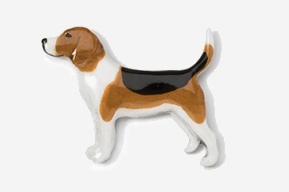 #453P - Beagle Hand Painted Pin
