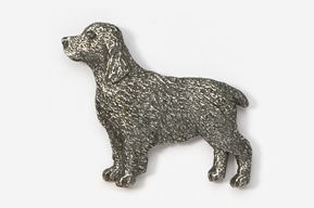 #455B - Springer Spaniel Antiqued Pewter Pin