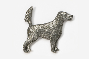 #457E - English Setter (with tail up) Antiqued Pewter Pin