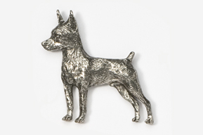 #459A - Miniature Pinscher Antiqued Pewter Pin