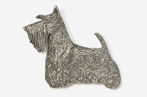 #461B - Scotty Antiqued Pewter Pin
