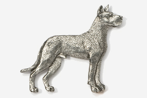 #463B - Great Dane Antiqued Pewter Pin
