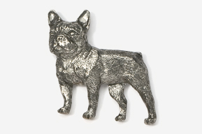 #463F - French Bulldog Antiqued Pewter Pin