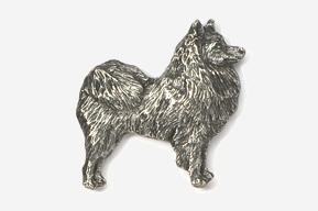 #464E - American Eskimo Antiqued Pewter Pin
