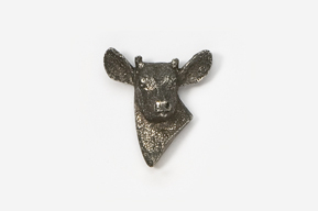 #465A - Button Buck Antiqued Pewter Pin