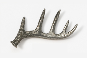 #468A - Shed Antler Antiqued Pewter Pin