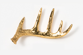 #468AG - Shed Antler 24K Gold Plated Pin