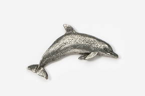 #475 - Dolphin / Porpoise Antiqued Pewter Pin