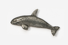 #483 - Killer Whale Antiqued Pewter Pin