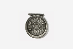 #521 - Fly Reel Antiqued Pewter Pin