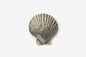 #541 - Scallop Antiqued Pewter Pin