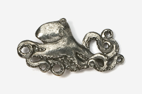 #551 - Octopus Antiqued Pewter Pin