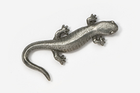 #589 - Salamander Antiqued Pewter Pin