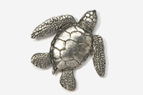 #607 - Sea Turtle Antiqued Pewter Pin