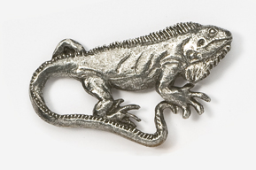 #615 - Iguana Antiqued Pewter Pin