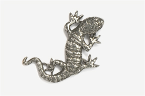 #616 - Gecko Antiqued Pewter Pin