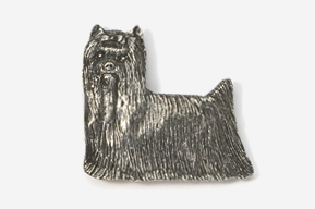 #850 - Show Clip Yorkie Antiqued Pewter Pin