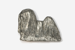 #857 - Lhasa Apso Antiqued Pewter Pin