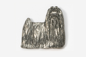 #865 - Show Clip Maltese Antiqued Pewter Pin