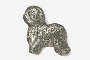 #868 - Old English Sheep Dog Antiqued Pewter Pin