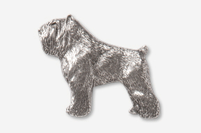 #885 - Bouvier Antiqued Pewter Pin