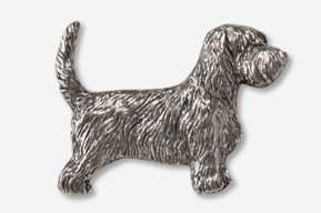 #886 - PBGV Antiqued Pewter Pin