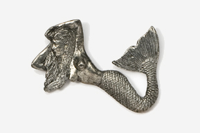 #900 - Mermaid Antiqued Pewter Pin